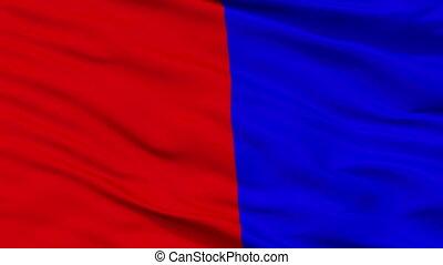 Closeup Cagnes sur Mer city flag, France - Cagnes sur Mer...