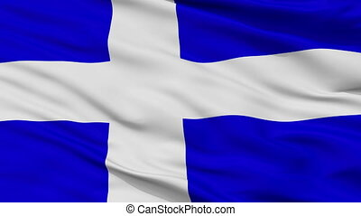 Closeup Calais city flag, France - Calais closeup flag, city...