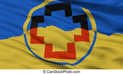 Closeup Calama city flag, Chile