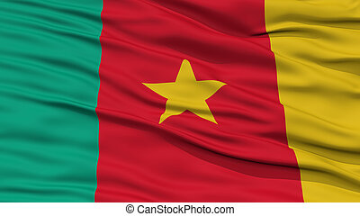 Closeup Cameroon Flag