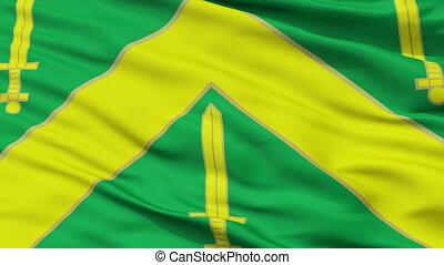 Closeup Campina Grande city flag, Brasil - Campina Grande...