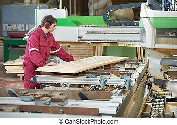 closeup carpentry wood cross cutting - Closeup process of...