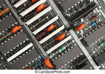 closeup, carte électronique