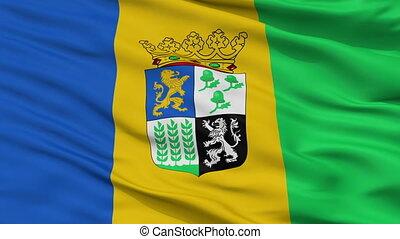 Closeup Castricum city flag, Netherlands - Castricum closeup...
