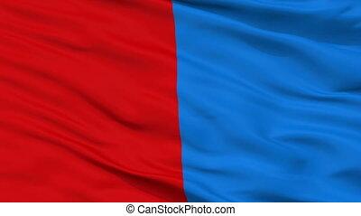 Closeup Catania city flag, Italy - Catania closeup flag,...