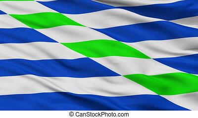 Closeup Catano city flag, Puerto Rico - Catano closeup flag,...