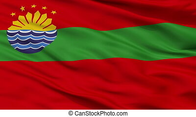 Closeup Cavite city flag, Philippines - Cavite closeup flag,...
