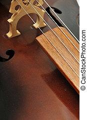 closeup, cello, achtergrond