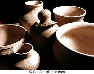 closeup, ceramica