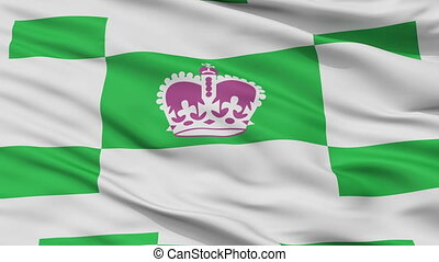 Closeup Charlottetown city flag, Canada - Charlottetown...