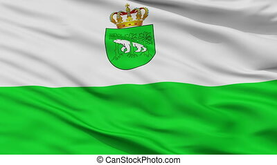 Closeup Chelm city flag, Poland - Chelm closeup flag, city...
