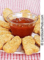 closeup chicken fingers