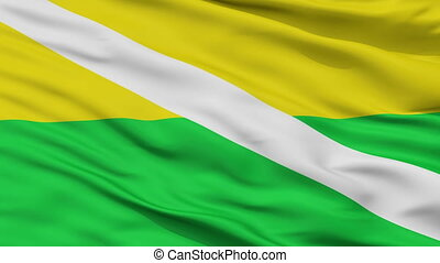 Closeup Chiriguana city flag, Colombia - Chiriguana closeup...