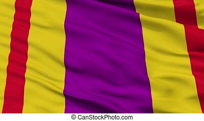 Closeup Ciales city flag, Puerto Rico - Ciales closeup flag,...