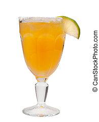 closeup, cocktail, citrus