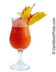 closeup, cocktail, orange