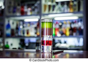 closeup, coloré, cocktail