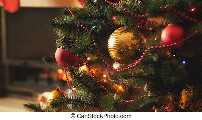 closeup, coloré, coup, modifié tonalité, arbre., fetes,...