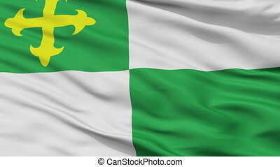 Closeup Comerio city flag, Puerto Rico - Comerio closeup...