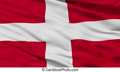 Closeup Como city flag, Italy - Como closeup flag, city of...