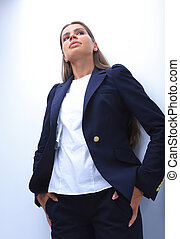 closeup. confident young woman