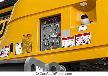closeup control panel