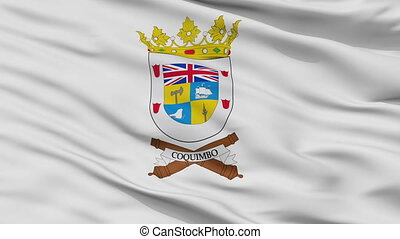 Closeup Coquimbo city flag, Chile