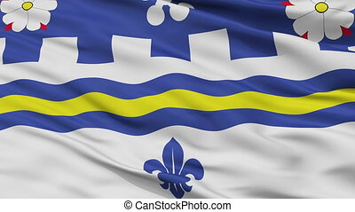 Closeup Coquitlam city flag, Canada - Coquitlam closeup...