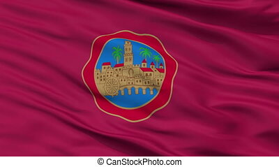 Closeup Cordoba city flag, Spain - Cordoba closeup flag,...