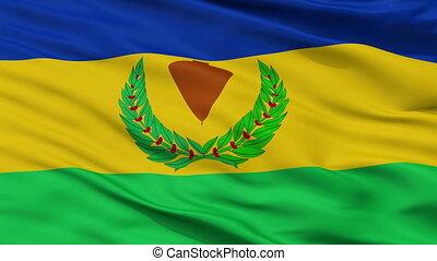 Closeup Cordoba city flag, Venezuela - Cordoba closeup flag,...