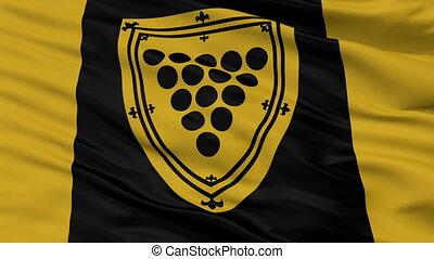 Closeup Cornwall Ontario city flag, Canada - Cornwall...