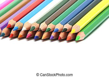 closeup crayon