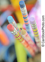 closeup, crayons colorés