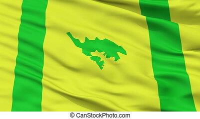 Closeup Culebra city flag, Puerto Rico - Culebra closeup...
