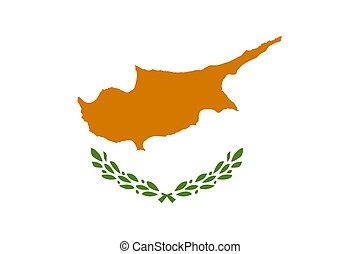 closeup, cypr, bandera