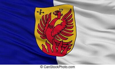 Closeup Dagda city flag, Latvia - Dagda closeup flag, city...