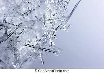 closeup, de, cristais gelo