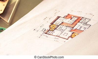 Maison croquis papier conception blanc for Conception de croquis de plan de maison