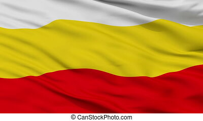 Closeup Decin city flag, Czech Republic - Decin closeup...