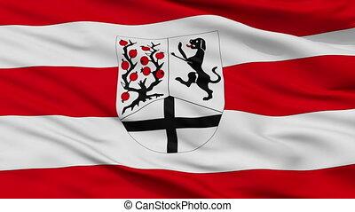 Closeup Delbruck city flag, Germany - Delbruck closeup flag,...