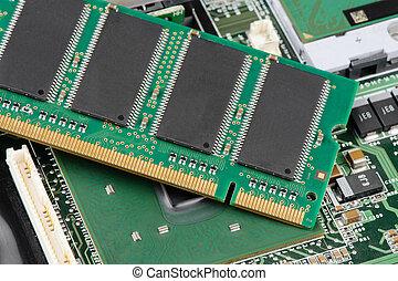RAM - closeup details of computer memory (RAM)
