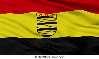 Closeup Deurne city flag, Netherlands - Deurne closeup flag,...