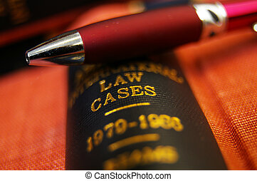 closeup, di, uno, penna, cima, uno, libro legge