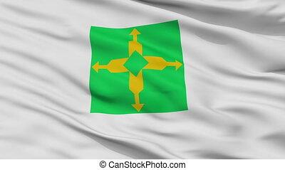 Closeup Distrito Federal city flag, Brasil - Distrito...