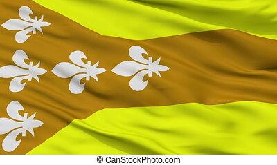 Closeup Dorado city flag, Puerto Rico - Dorado closeup flag,...