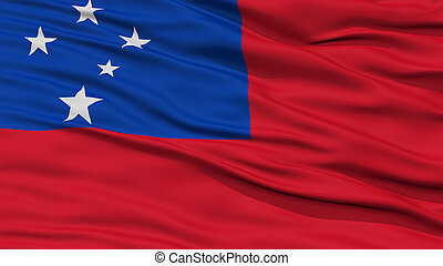 closeup, drapeau, samoa