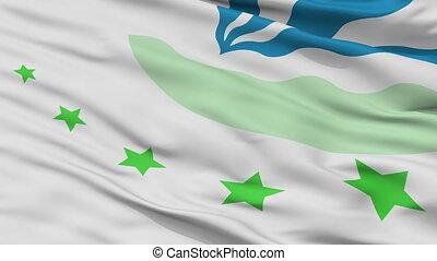 Closeup Drimmelen city flag, Netherlands - Drimmelen closeup...