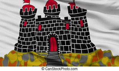 closeup, edinburgh, stadt, fahne, vereinigtes königreich