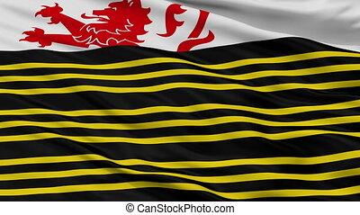 Closeup Eersel city flag, Netherlands - Eersel closeup flag,...