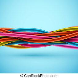 closeup, elétrico, cabo